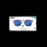 Izipizi #E Blue Tortoise Mirror Glasses so zrkadlovými sklami Sunglasses