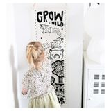 Wee Gallery Growing Wild Textile Growth Chart Farm
