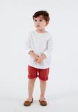 Gray Label Henley T-Shirt White
