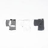 Mini Dressing Fox Knee Socks Panda (set of 3)