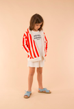 tinycottons SS18 Hotel Bonheur Staff graphic FT Hoody Carmine