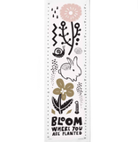 Wee Gallery Growing Wild Textile Growth Chart - Bloom