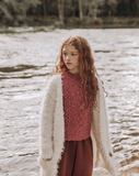 The New Society Knit Coat Saeide Ecru