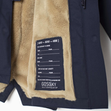 GOSOAKY AW17 Waterproof Lined Parka Indigo Blue