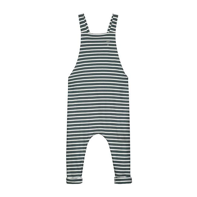 Gray Label SS18 Summer Salopette Blue Grey - White Stripe