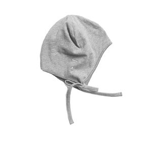 Gray Label SS20 Baby Hat with Strings Grey Melange