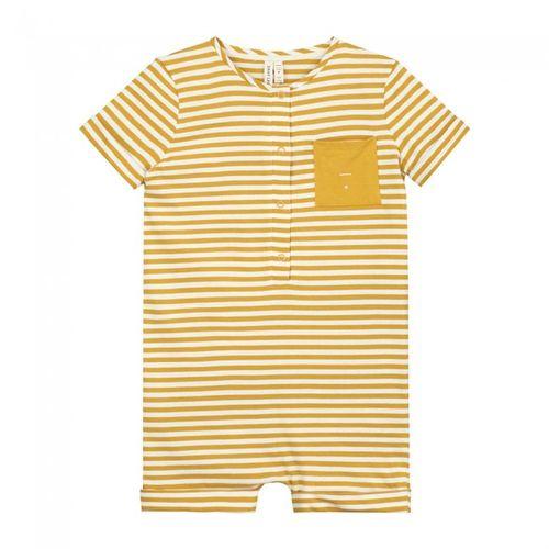 Gray Label SS20 Short Leg Suit Mustard - Off White Stripes