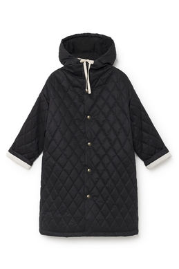 Little Creative Factory Horizons Hooded Quilted Coat Black