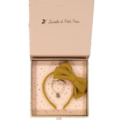 Luciole et Petit Pois AW19 Mustard Wool Liberty Nausicaa Bracelet Glitter Gift Box