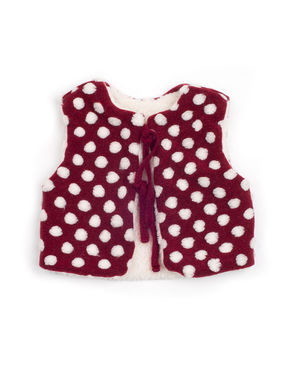 Mini Dressing Snow Ball Vest Red
