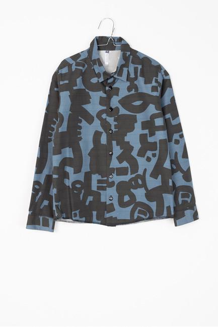 Motoreta Cosmo Shirt Blue & Black Print