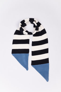 Motoreta AW18 Knitted Scarf Black - Off White - Light Blue