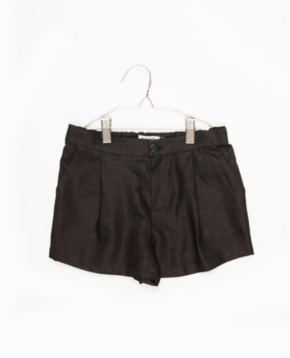Motoreta Peter Linen Shorts Black