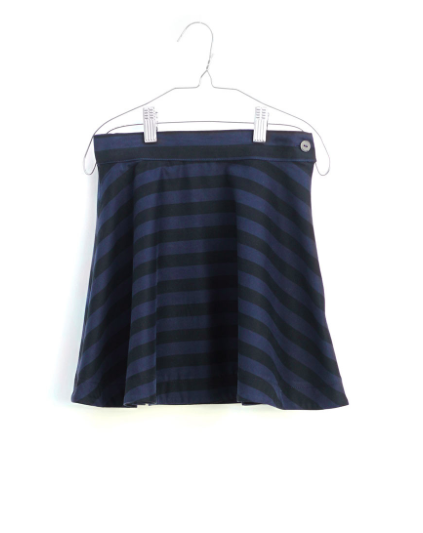 Motoreta Osuna Skirt Black-Blue Stripes