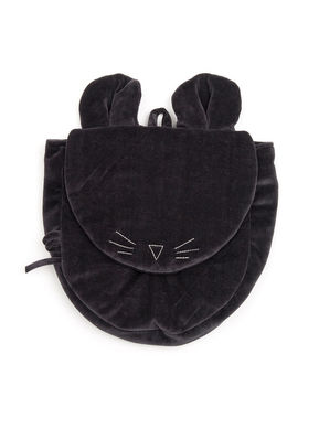 Mouse in a House AW18 Black velvet backpack Mouse