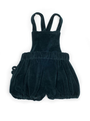 Mouse in a House: Velvet Shorts with Suspenders green