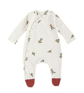 Organic Zoo AW19 Olive Garden Oat Suit with Contrast Feet