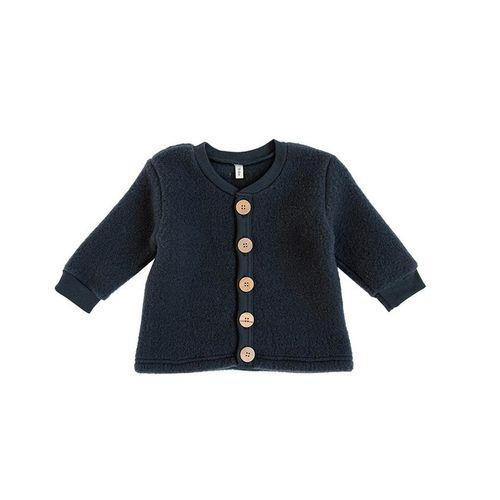 Organic Zoo AW19 Merino Brushed Wool Jacket Graphite