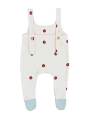 Organic Zoo AW19 Dots Salopettes with Contrast Feet