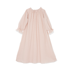 Amiki AW17 Nightdress Victoria Poudre With Grey Dots