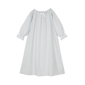 Amiki AW17 Nightdress Victoria Grey Mist With White Dots