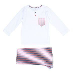 Amiki Pyjamas Henry White with Stripes