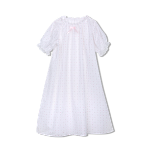 Amiki SS18 Nightgown Vanessa White with Hearts