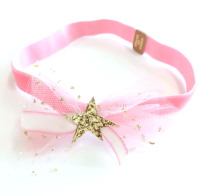 Atsuyo et Akiko AW17 Ivy Headband Pink/White