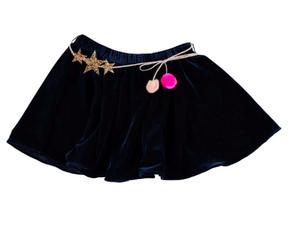 Atsuyo et Akiko Velvet Skirt Dark Blue