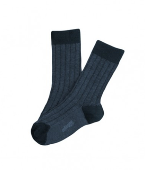 Collegién Socks Grain de Caviar Navy