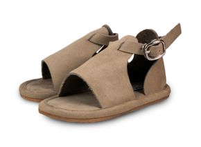 Donsje Lilo Leather Shoes Nubuk Taupe