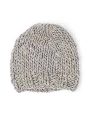 Free Sisters Chunky Wool Hat Light Grey