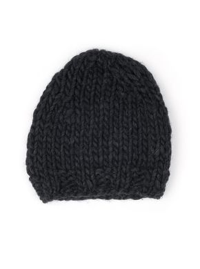 Free Sisters Chunky Wool Hat Dark Grey
