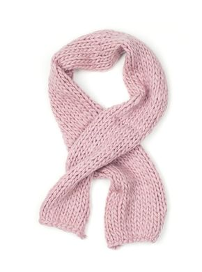 Free Sisters Chunky Wool Scarf Blush Pink