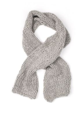 Free Sisters Chunky Wool Scarf Light Grey