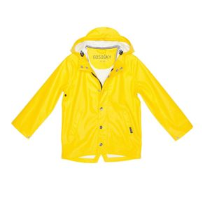 GOSOAKY Waterproof Unisex Jacket Elephant Man Vibrant Yellow