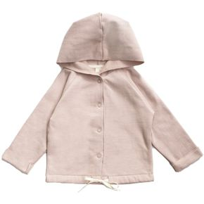 Gray Label AW17 Baby Hooded Cardigan Vintage Pink