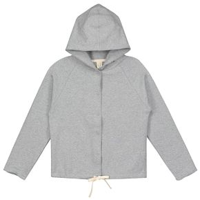 Gray Label AW17 Hooded cardigan with snaps grey melange