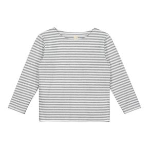 Gray Label AW17 L/S Striped Tee Grey Melange  White