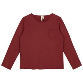 Gray Label AW17 Pocket L/S Tee Burgundy