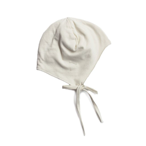 Gray Label Baby Hat with Strings Cream