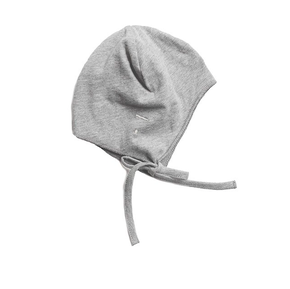 Gray Label AW17 Baby Hat with Strings Grey Melange