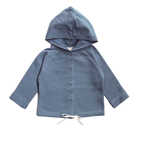 Gray Label Baby Hooded Cardigan Denim