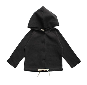 Gray Label Baby Hooded Cardigan Nearly Black