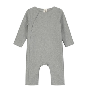 Gray Label Baby Suit with Snaps Grey Melange