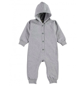 Gray Label Hooded Jumpsuit Grey Melange