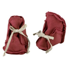 Gray Label Raw Edged Booties Burgundy