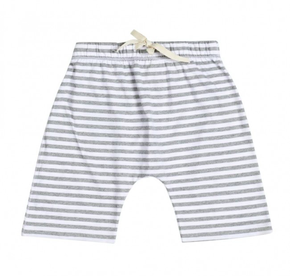 Gray Label Shorts Grey Melange White Stripe
