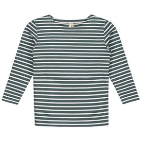 Gray Label SS18 L/S Striped Tee Blue Grey - White
