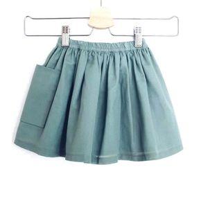 Turquoise Pocket Skirt